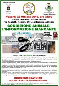 Condizione Animale; L'informazione Mancante