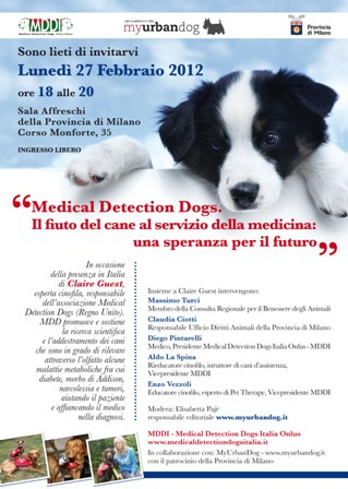 Medical Detection Dogs, il fiuto del cane…una speranza per il futuro.