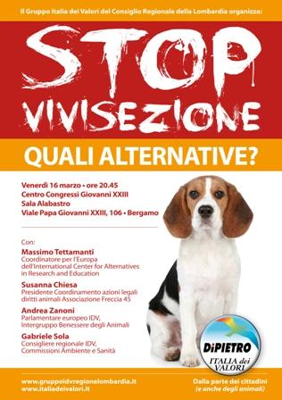 Venerdi' 16 – STOP Vivisezione!