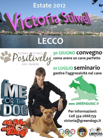 Victoria Stilwell in Italia