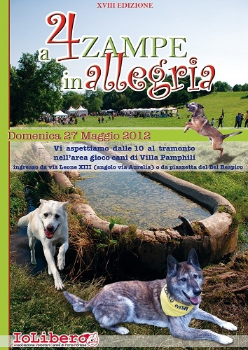 A quattro zampe in allegria 2012 radiobau for Via leone xiii roma