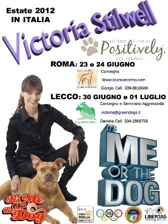 Victoria Stilwell in Italia!