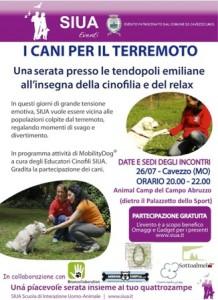 I Cani del Terremoto, Giovedi 26 Luglio a Cavezzo
