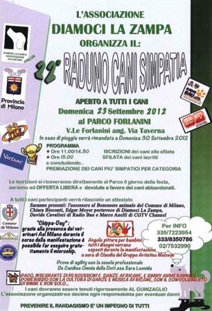 22° Raduno Cani Simpatia a Milano Sfilata canina aperta a tutti,  Chippa-Day (giorno del microchip gratuito)