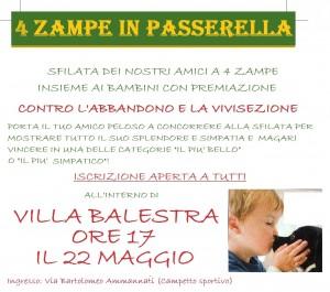 4 zampe in passerella a Roma