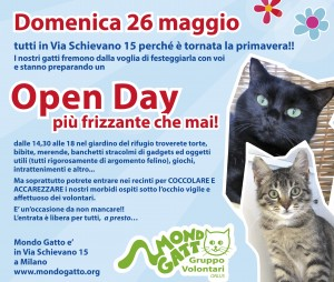 OPEN DAY di Primavera a MONDO GATTO