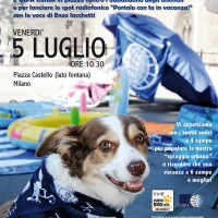 Vacanza a sei zampe OIPA! Tutti in p.za Castello a Milano con il sorriso ed…il cane!