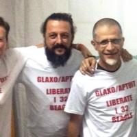 Giuliano Palma con la rappresentanza di Freccia 45 Verona