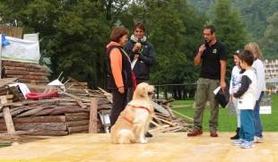 A Levico Terme, Trainer ; premia i Cani Eroi, i nostri cani senza scordare gli animali sacrificati per la Vivisezione.
