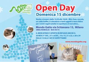 XMAS; Open Day e Mercatini a Mondo Gatto