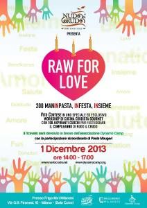 Raw For Love, a Milano il 1° Dicembre