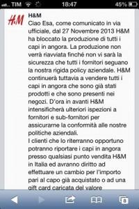 H&M sospende TEMPORANEAMENTE la produzione di capi d'ANGORA!!!