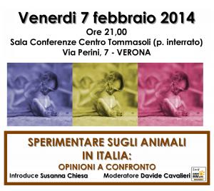 vi aspettiamo questa sera alle 21:00 con il dr. Massimo Tettamanti; che in tale occasione presentera' il nuovo progetto ITALIA SENZA VIVISEZIONE!!