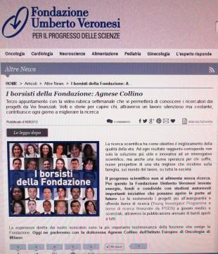 La Fondazione Umberto Veronesi investe sulla Sperimentazione Animale