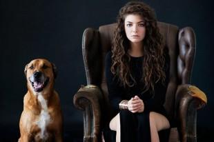 LORDE ed il cane di un suo amico