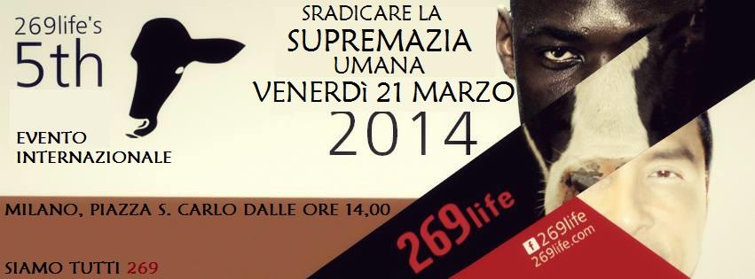 EVENTO INTERNAZIONALE 269Life a Milano venerdì 21 marzo alle 15.30  in piazza San Carlo.