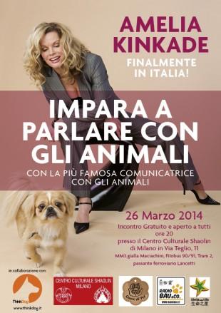 Amelia Kinkade, la donna che comunica con gli animali in Italia!
