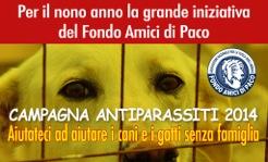 CAMPAGNA ANTIPARASSITI 2014 con il Fondo Amici di Paco