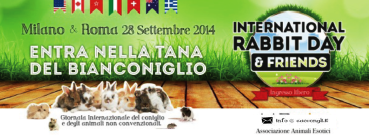 28 Settembre International Rabbit Day