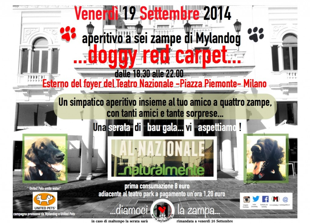 Venerdi' 19 Settembre DOGGY RED CARPET