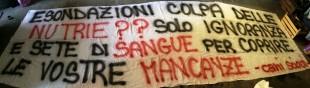 Animalisti a Milano davanti al Palazzo Lombardia per difendere le Nutrie
