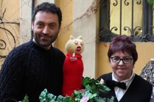 Anna Cominotti con Roberto Di Paola ed il suo Gatto
