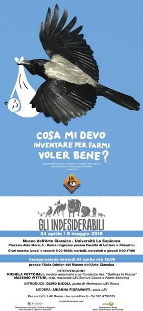 """""""GLI INDESIDERABILI"""" a ROMA da VENERDI' 24 APRILE – FINO ALL'8 MAGGIO PRESSO IL MUSEO DELL'ARTE CLASSICA@UNIVERSITÀ LA SAPIENZA"""