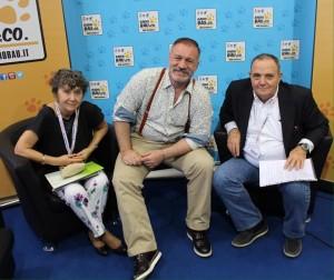 Gabriella Bonvini (Ufficio Stampa Zoomark) , Davide Cavalieri, Giuseppe Pierini (Organizzatore Zoomark)