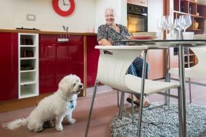 Tommy e lsua Compagna, in uno degli appartamenti Pet Friendly di Heliopolis