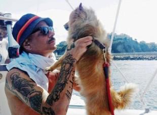 DON JOE ed il suo cane  JOHNNY  Testimonial della Campagna Adozioni 2015/2016 di FRECCIA 45