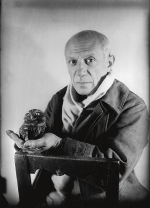 Pablo Picasso e la Civetta (foto di Michel Sima del 1946)