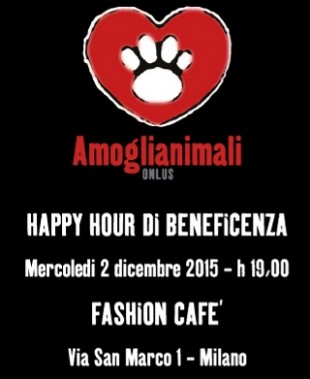 HAPPY HOUR di BENEFICENZA by Amoglianimali Onlus