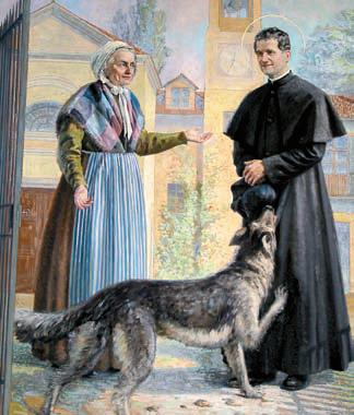 św. Jan Bosko i pies Grigio