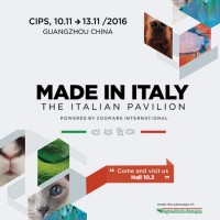 "ZOOMARK IN CINA: UNA COLLETTIVA ITALIANA ALLA FIERA ""CIPS 2016"""