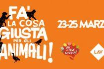 FA' LA COSA GIUSTA…PER GLI ANIMALI!  LAV ALLA FIERA DEL CONSUMO CRITICO DI MILANO