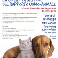 UOMO – ANIMALE , corretta gestione del rapporto