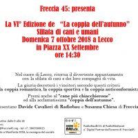 A Lecco arriva … La Coppia dell'Autunno 2018