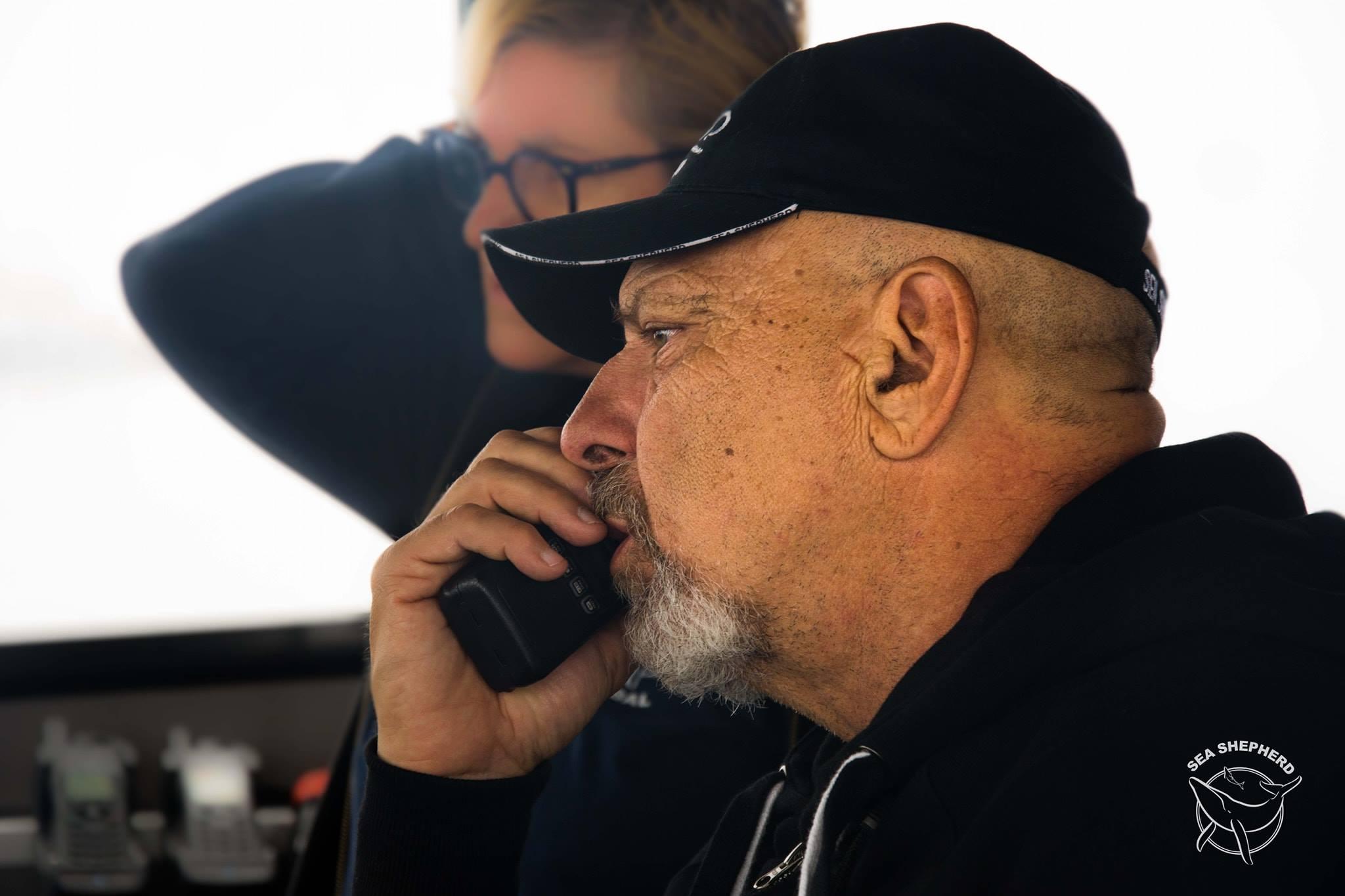 L'Ammiraglio Giuseppe De Giorgi nuovo Capitano della nave ammiraglia di Sea Shepherd Ocean Warrior