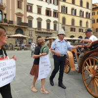 Protesta contro le Carrozzelle a Firenze