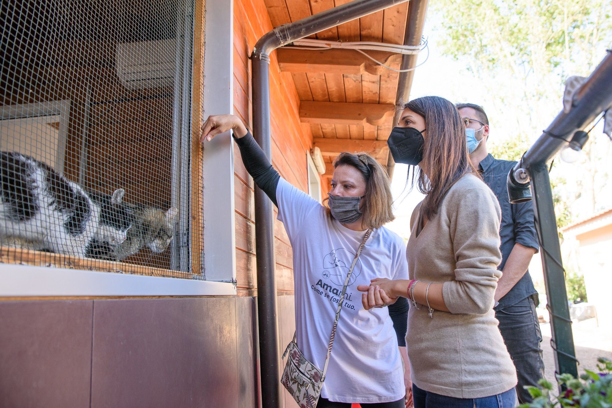 Virginia Raggi visita l'Oasi Felina di Porta Portese